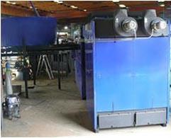 Alternativní zdroj tepla - jednotka na spalování biomasy ve formě pelet (dodala firma ProPelety s.r.o.)