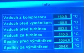 Záznam měření na turbokompresoru ze dne 16. 2. 2017